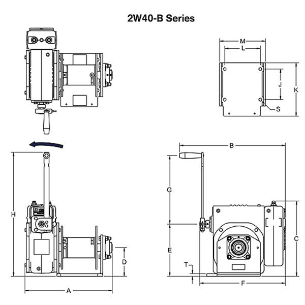 Dimensions for 2w40-b