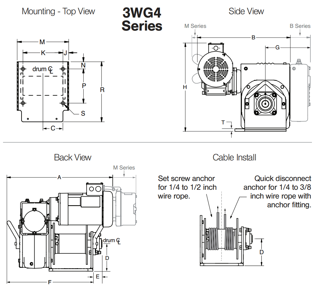 Dimensions for 3WG4