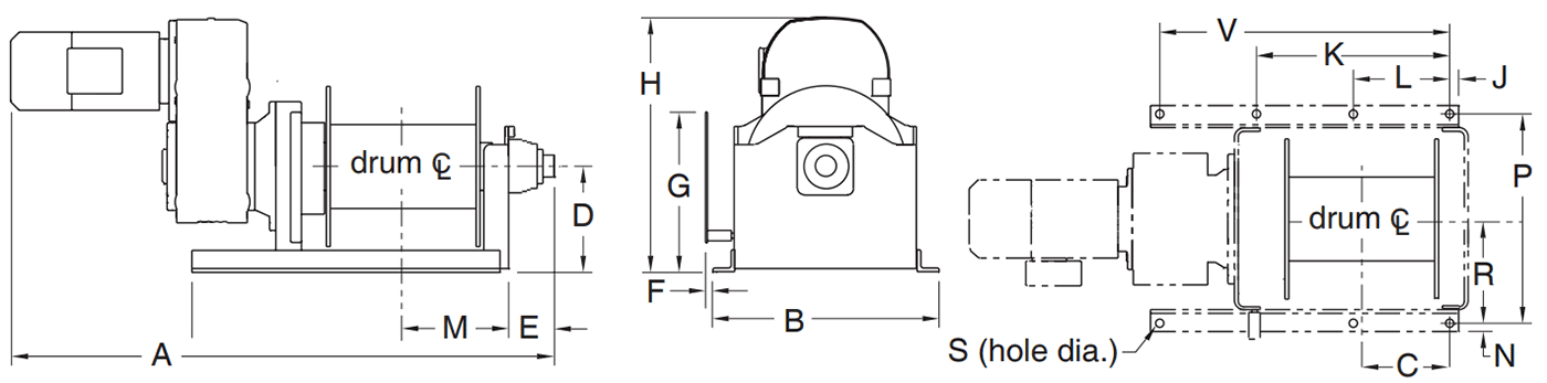 Dimensions for 4HPFC