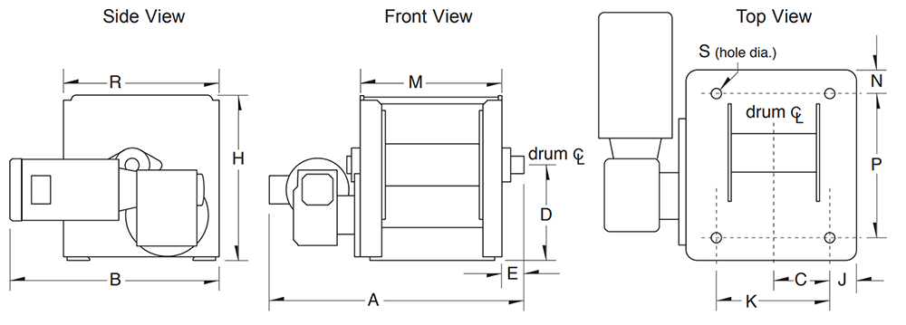 Dimensions for 4WS