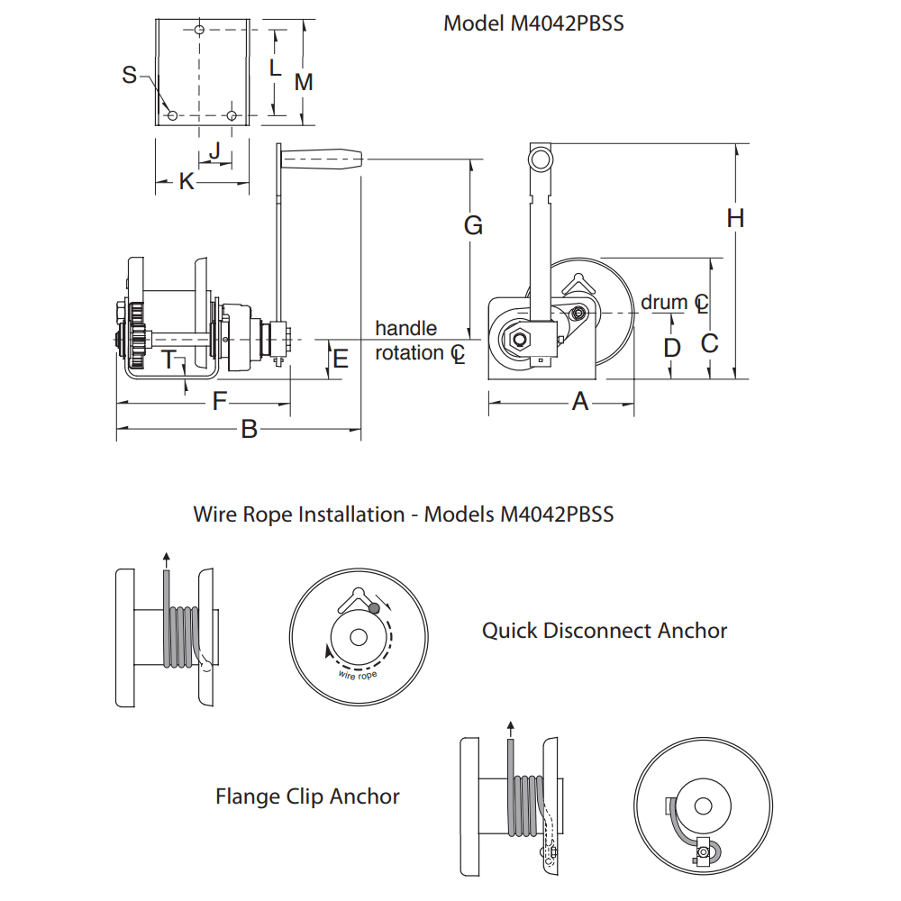 Dimensions for M4042PBSS