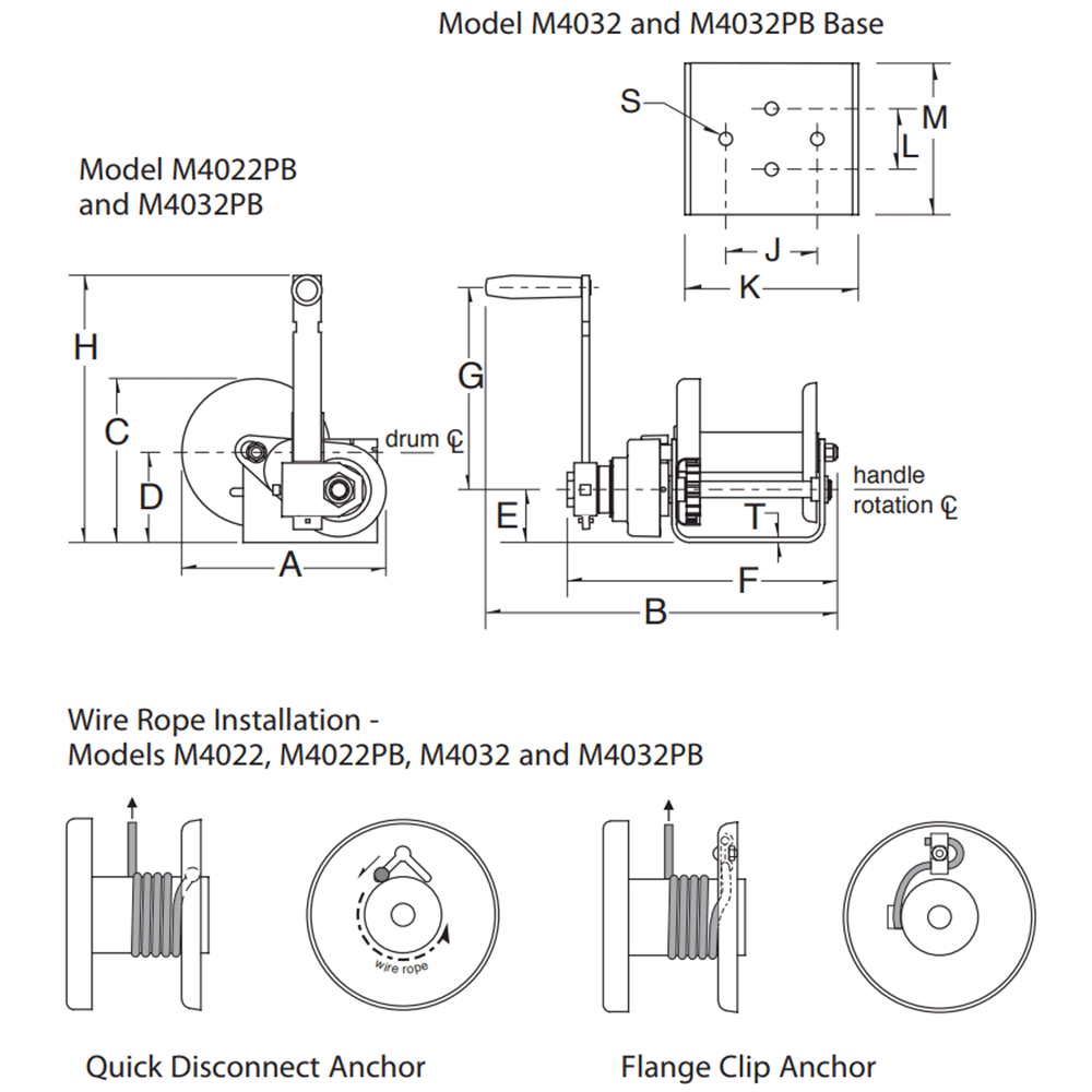 Dimensions for M4032