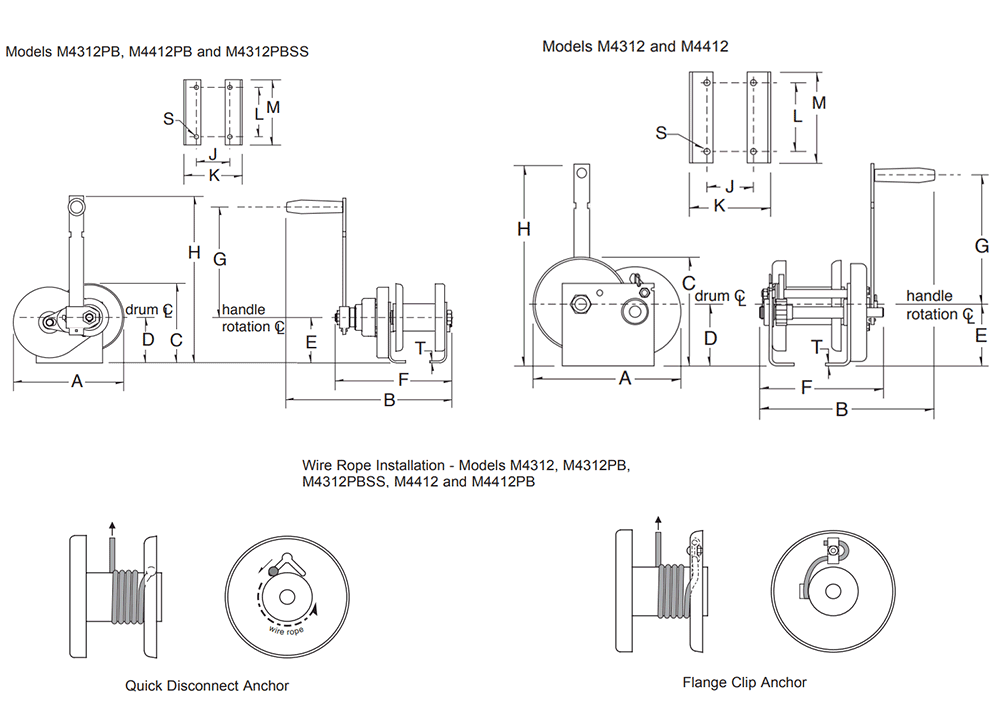 Dimensions for M4312