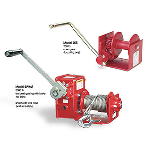 Worm gear Hand Winch